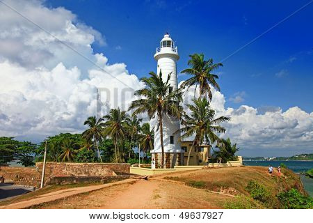 pictorial view of light houe - Galle fort (Sri Lanka) poster