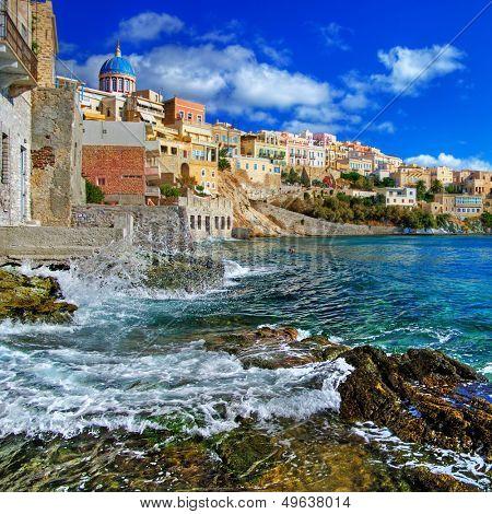beautiful Greek islands series - Syros poster