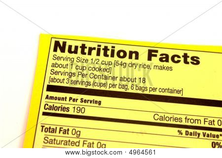 A Nutrition Facts Label