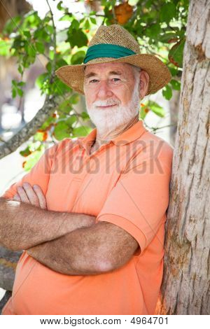 Senior Man - Wise And Serious
