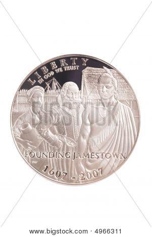 2007 Jamestown Commemorative Silver Us Dollar
