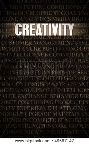 Creativity in Business as Motivation in Stone Wall poster