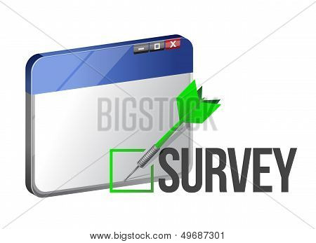 A Web Browser Window Shows The Word Survey