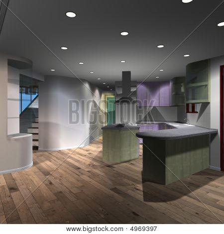 Modern House-kitchen