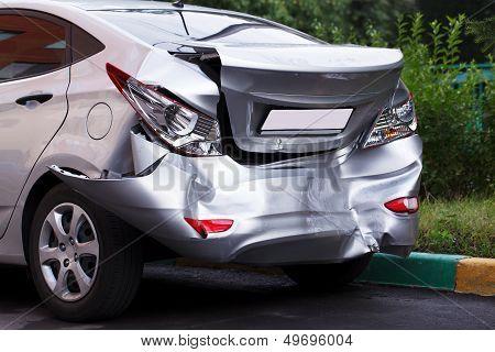 Big dent on car
