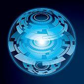 Fantasy Navigation Sphere. Vector Illustration poster