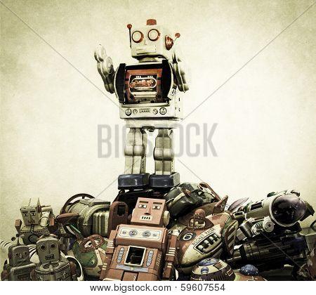 big robot on top