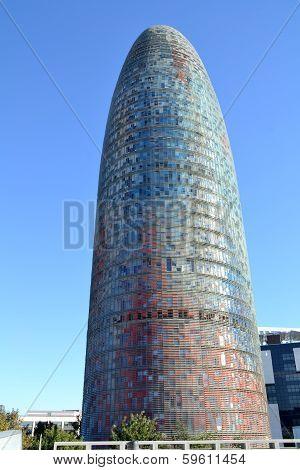 Torre Agbar in Barcelona, Spain