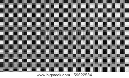 Black And White Checkered Pattern - Stock Image