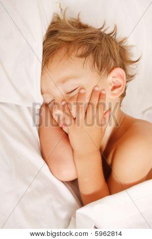 Close Up Portrait Of Sleeping Child