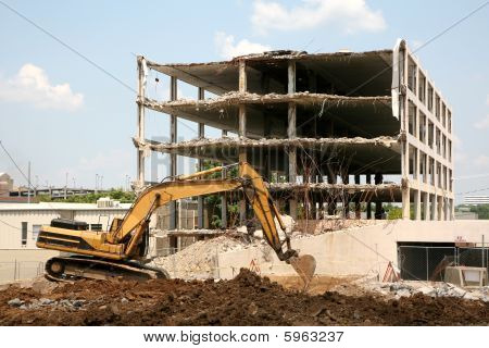Demolition Of A 5 Story Building