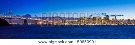 Bay Bridge And San Francisco