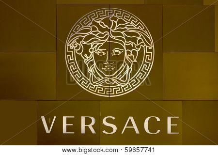 Ho Chi Minh City, Vietnam-october 31St 2013: Versace Logo On Store In Ho Chi Minh City. The Logo Is