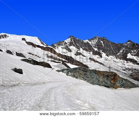 Alphubel,Dom and Taschhorn - Swiss alps