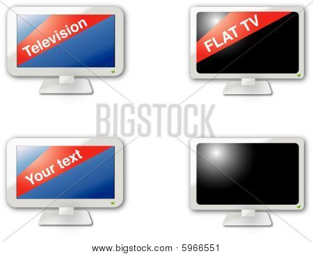 Modern web 2.0 flat TV icons