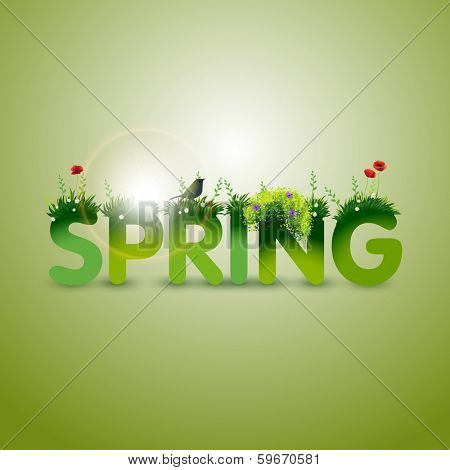 Spring, eps10 vector