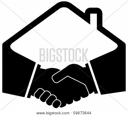 black handshake icon