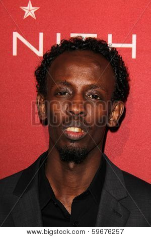 LOS ANGELES - FEB 10:  Barkhad Abdi at the The Hollywood Reporter's Annual Nominees Night Party at Spago on February 10, 2014 in Beverly Hills, CA