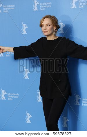 BERLIN - FEB 9: Uma Thurman at the 'Nymphomaniac Volume I' photocall - 64th Berlinale International Film Festival at Grand Hyatt Hotel on February 9, 2014 in Berlin, Germany