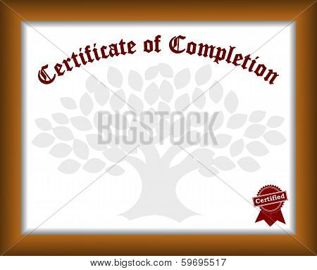 Traditional template of certificate