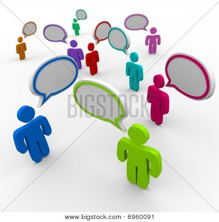 Disorganized Communication - People Speaking At Once