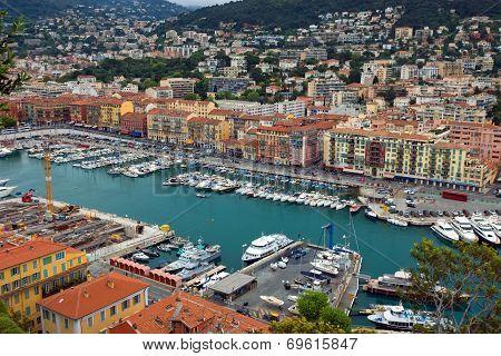City Of Nice - Aerial View Of The Port De Nice