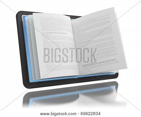 Electronic Book. E-reading. E-learning