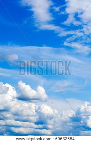 Bright Blue Sky Background