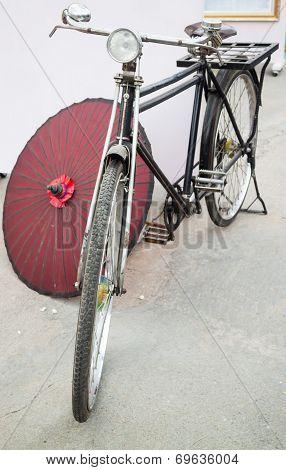 Front Of A Vintage Bike