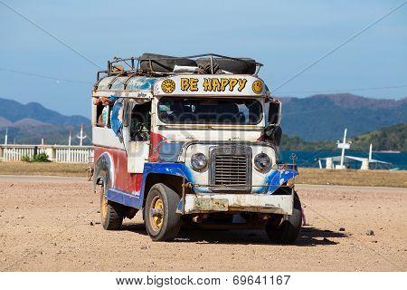 Jeepneys Passing, Philippines