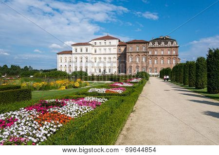 Palace And Park Of Venaria In Piedmont (italy)
