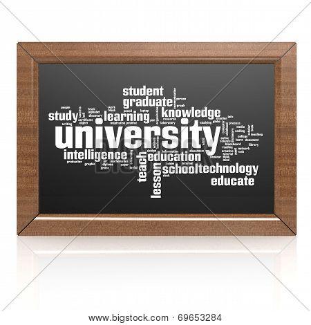 Blank Blackboard University