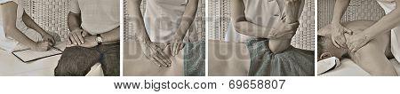 Vintage Style Massage Website Banner