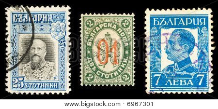 Old Bulgarian stamps