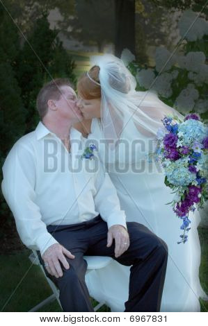 Wedding Day Kisses in Color
