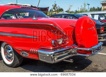1957 Chevy Impala Rear View.