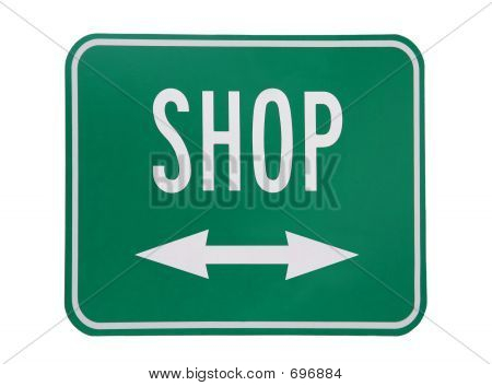 Shop On White Background