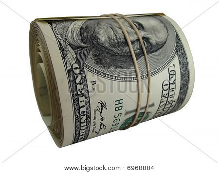 Stacks Of Usd Banknotes Isolated On White