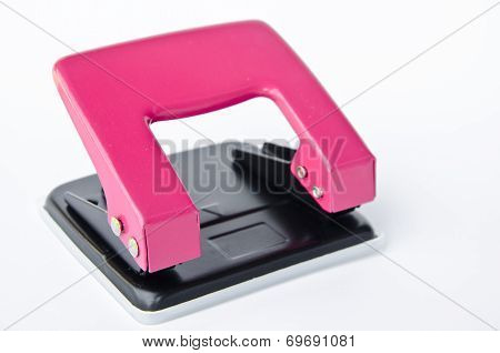 Pink Office Paper Hole Puncher