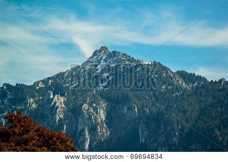 Landscape of Bavarian Alps in Germany