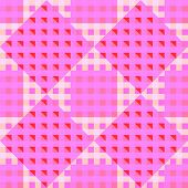 geometric pink seamless pattern, abstract vector art illustration poster