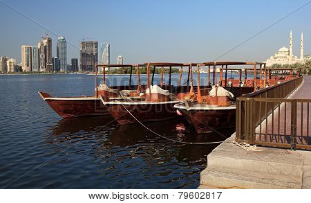 Water Taxi in Sharjah.