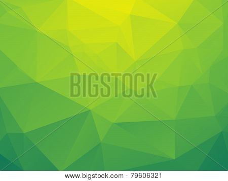 abstract triangular yellow green bio background with gradients poster