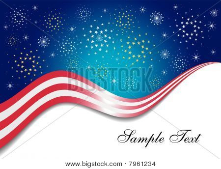 Patriotic Firework Background
