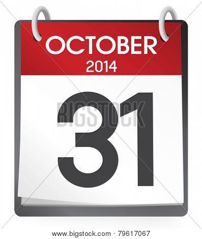 October 2014 Calendar Vector poster