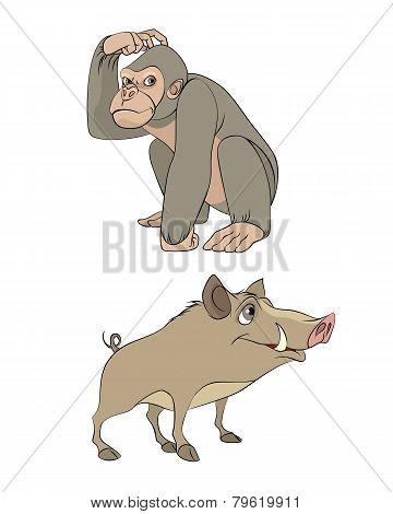 Two Wild Animals