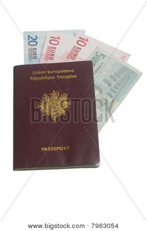 French passport with euros