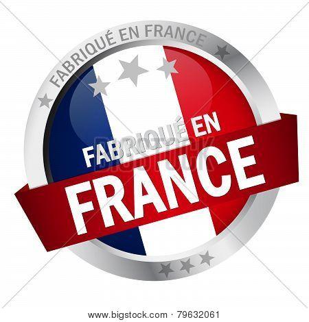Button With Banner Fabrique En France