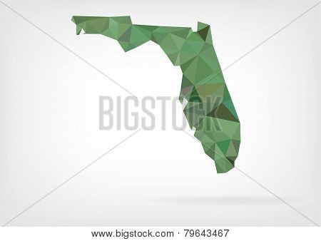 Low Poly map of Florida state