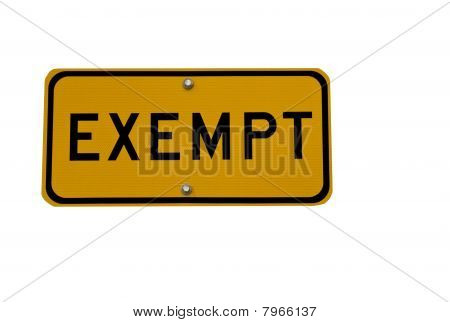 exempt sign isolated